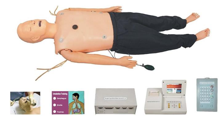 高级多功能急救训练模拟人(心肺复苏\气管插管\除颤起搏四合一综合功能嵌入式系统)