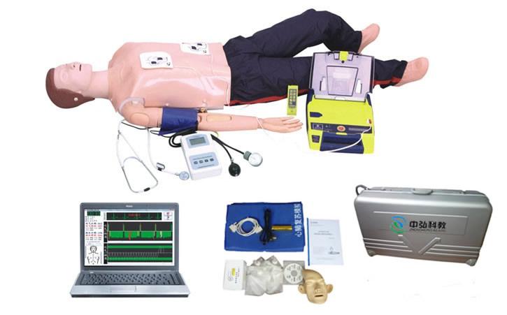 高级全功能急救训练模拟人(心肺复苏与血压测量、AED除颤仪)